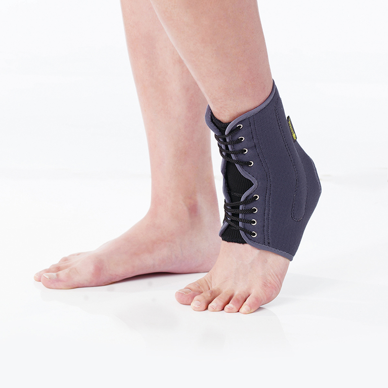 Easy tie on ankle brace